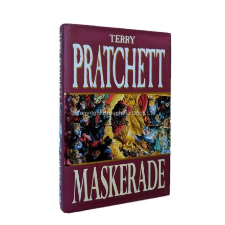 Maskerade Signed and Inscribed With Illustration by Terry Pratchett​​​​​​​ First Edition Victor Goll